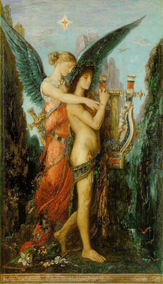 «Гесиод и муза» Гюстава Моро