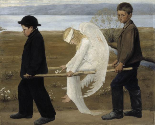 «Раненый ангел» Хуго Симберга