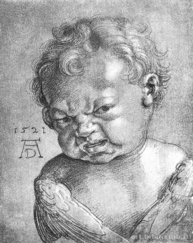 Плачущий ангелочек (эскиз Альбрехта Дюрера)