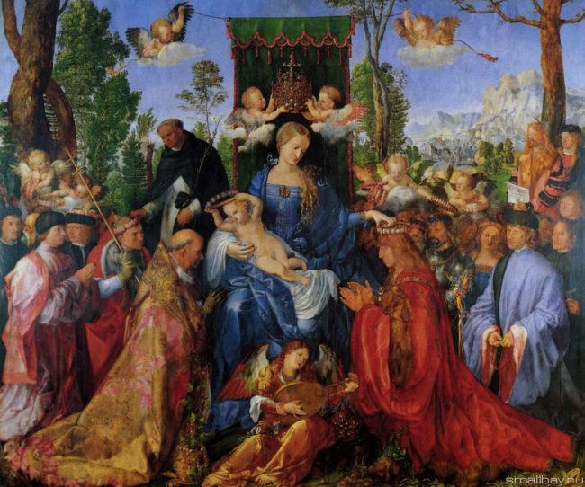Праздник четок (Праздник розовых венков) Альбрехта Дюрера