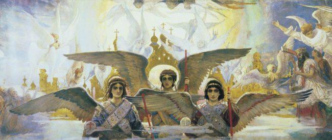 Фрагмент триптиха «Радость праведных о Господе. Преддверие рая». Виктор Васнецов